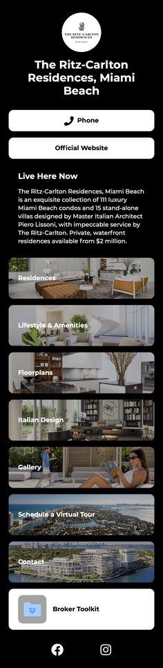 #pinterestinspired #shorby #residence #luxury #realestate Villa Design, Beach Condo, Miami Beach, Landing, Floor Plans, Real Estate, Trends, Luxury, Link