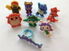 Wallykazam Party Favor Cupcake Toppers Rings by MiniMagnetMagic