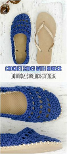 7 Easy Crochet Slippers Free Patterns Crochet Shoes With Rubber Bottoms Free Pattern The post 7 Easy Crochet Slippers Free Patterns appeared first on Beauty Shares. Easy Crochet Slippers, Crochet Sandals, Booties Crochet, Crochet Shoes Pattern, Shoe Pattern, Crochet Gratis, Crochet Yarn, Crochet Cozy, Crotchet