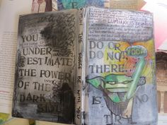 """This was not my original book, but when I received it, the cover was not done, so I took it upon myself to create it. It was originally a """"Oragami Yoda"""" book."""