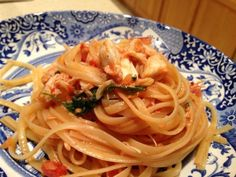 Old Bay crab pasta with creamy tomato sauce