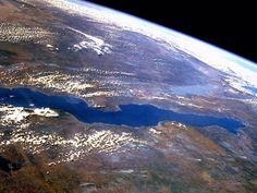 Lake Tanganyika as seen from space