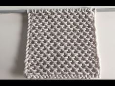 Knitting patterns How to knit Chinese wave COMMENT tricoter le point de tamis - YouTube
