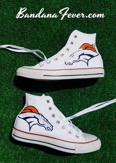 f89a91cdc104 Customized Denver Broncos Converse Sneakers
