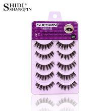 5 Pairs Handmade Natural False Eyelashes Makeup Eyelash Extension Long Lashes Wispy Eye Lash Make Up Tools //FREE Shipping Worldwide //