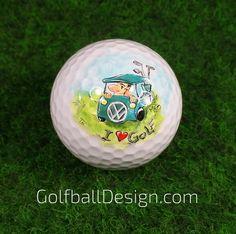 Golfball handbemalt