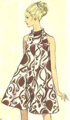 Vintage Tent Dress Vogue Pattern
