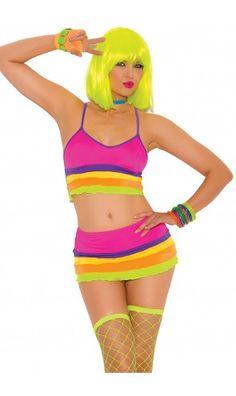 69984e07de3 Rainbow gogo dancer mini skirt ruffle outfit Rave Wear