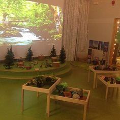 Love the trees Classroom Layout, Classroom Design, Classroom Displays, Preschool Classroom, Classroom Ideas, Reggio Emilia, Reggio Inspired Classrooms, Reading Tree, Toddler Classroom
