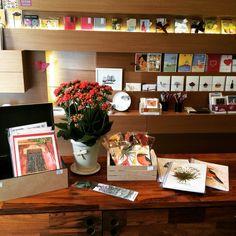 Cadernos, cartões, marcadores de livros de Marcia Franco.