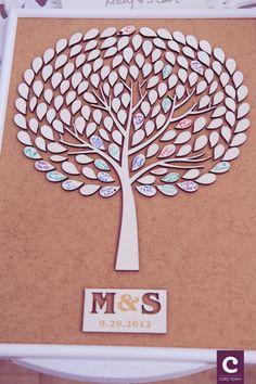 Custom wedding guest book alternative - 3D wood rustic wedding guest book - Tree of Life