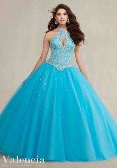 Morilee Valencia Quinceanera Dress 89084 Embroidery and beading on a tulle ball gown  Colors: Coral, Pink Panther, Freeze and white