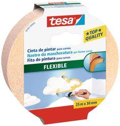 tesa® Cinta de pintar FLEXIBLE para perfiles irregulares y curvos en superficies lisas o rugosas en interiores..