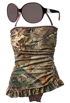 Shop camo swimwear before you hit the pool this weekend.