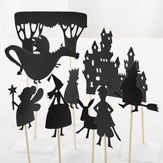 Kids' Theater: Princess Castle Shadow Puppets from land of nod