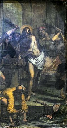 Madonna dell'Orto (Venice) - Left side of the nave - Flagellation of Christ by Matteo Ponzone - Chiesa della Madonna dell'Orto - Wikipedia
