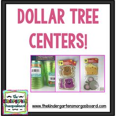 This post shows three different math centers you can make using items from the Dollar Tree! Dollar Tree centers are fun, easy and cheap! * Be sure to check out this helpful article. Kindergarten Smorgasboard, Kindergarten Centers, Preschool Math, Kindergarten Classroom, Teaching Math, Math Activities, Classroom Ideas, Dollar Tree Classroom, Special Education