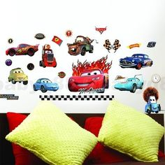 LARGE Personalized Disney CARS Lightning McQueen Vinyl Wall Decal - Lightning mcqueen custom vinyl decals for carcars lightning mcqueen disney decal sticker window new colorwhi