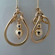 Elegant Gold Filled Hoop Earrings - Gold Earrings - Gold Jewelry. $46.00, via Etsy.