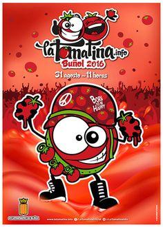 Affiche officielle - La tomatina - Olé Lardy (S.LALOUM)