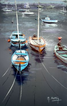 Au Port  Blog : http://michelbretonpastels.blogspot.fr/ Galerie : http://fr.artscad.com/@/BretonMichel   Facebook :  https://www.facebook.com/michelbretonpastels (crayon painting oil pastels)