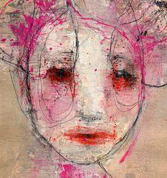 Original Painting Textured Portrait Painting by ChristinaRomeo