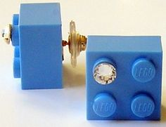 Light Blue LEGO brick 2x2 with a Diamond color by MademoiselleAlma, $14.99