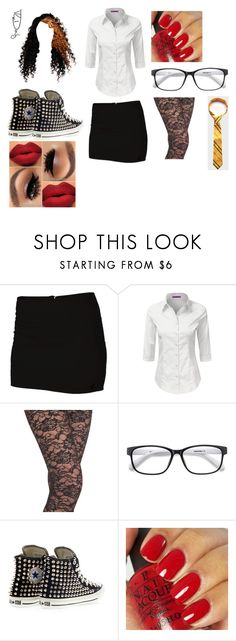 """Untitled #713"" by pooka515 on Polyvore featuring Volcom, Leggsington, Converse and OPI"