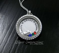 A personal favorite from my Etsy shop https://www.etsy.com/listing/183063413/mom-floating-locket-grandma-necklace