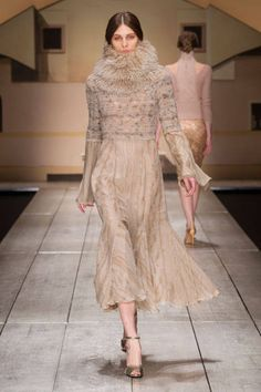 Laura Biagiotti Fall 2014 Ready-to-Wear Runway...Wow Beautiful. Love the details & silhouette. Change the color & fabric to fit your wedding theme BUT keep the details. Ask your dressmaker for suggestions.