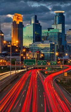 Downtown skyline of Minneapolis, Minnesota.