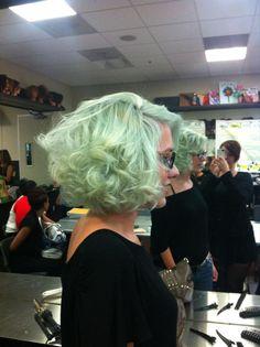 short curly GREEN hair!