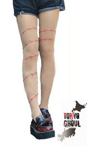 Anime Tokyo Ghoul barb wire tights--- i would get a tattoo of this on my finger tbh