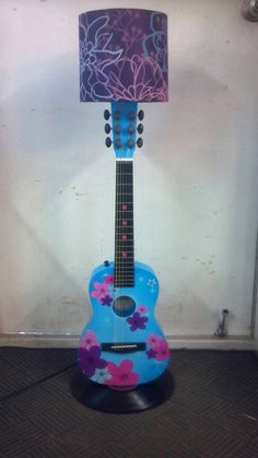 Guitar Lamp by CODY :). Great for young girls bedside table