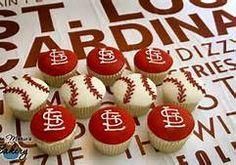 St. Louis Cardinals Cupcakes