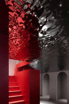 """AD ARCHITECTURE recently reimagined a boutique for TROUNGREE, situated in Shantou, China, which sells clothing from designer brands. The interior design was approached based on the concept of """"D. Club Design, Art Deco Design, Boutique Design, A Boutique, Shapes And Curves, Handmade Paint, Modern Aesthetics, Layout, Art And Architecture"""