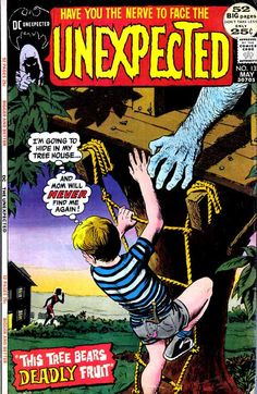 Unexpected - another one of those numerous comic book anthology titles that I loved so much. This one featured sci-fi, fantasy and horror stories that ranged between silly to superior. The most memorable of the stories that were printed in Unexpected were on a par with the short stories of such writers as H.P. Lovecraft, Robert Bloch and Conan creator Robert E. Howard. The artwork was the real star though. The covers were typically prescient, warning readers of foreboding and frightening…