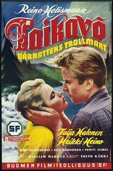 Taikayö (1954) Film Posters, Finland, Movie Tv, Comic Books, Baseball Cards, Comics, Cover, Cinema Posters, Comic Book