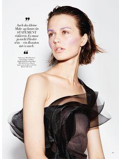 Magazine: Harper's Bazaar Germany September 2014 Title: Runway to Reality Photographer: Roman Geobel Model: Marta Dyks Hair: Hauke Krause