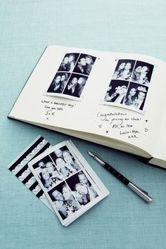 for a wedding, for a friend, for the family, B&W pics, luster/matte paper, with personal comments. bound sketch books at the art store, I like this idea.