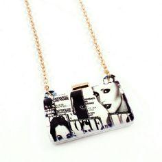 Magazine Clutch Purse Necklace