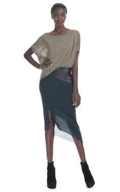 Shop Helmut Lang Slack Jersey Combo Dress at Moda Operandi