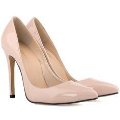 c776804fbb28 A genuine leather pumps elegant wedding high heels shoes plus size women  slip on pumps 2017 autumn women sexy party shoes