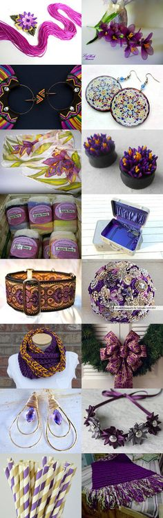 Dusk and Dawn by ArtWildflowersDigi on Etsy. Pinned with TreasuryPin.com~Featuring my Purple and Gold Holiday Wreath! <3