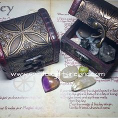 These mini treasure chests make the perfect home for your tumble stones and jewellery.  Each box is handcrafted from wood and finished in etched vinyl.  Size: height 63mm, length 80mm, width 60mm  Visit our store at www.spiritualgiftsireland.com  Follow Spiritual Gifts Ireland on www.facebook.com/spiritualgiftsireland www.instagram.com/spiritualgiftsireland www.etsy.com/shop/spiritualgiftireland We are also featured on Tumblr