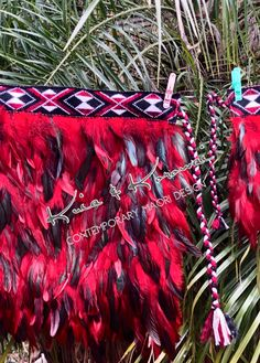 'Lil J Jnr' Red & Black Childs Full Feather Cloak Coque Feathers, Red Black, Black And White, Black Feathers, Cloak, Your Design, Vibrant, Things To Come, Colours
