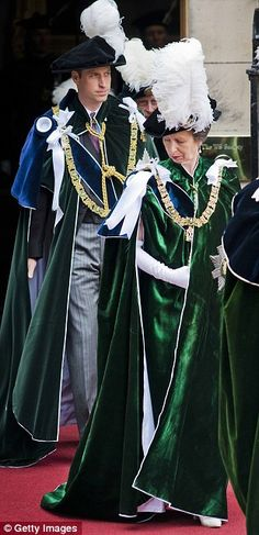 Prince William, Duke Of Cambridge and Princess Anne, Princess Royal attend the Thistle Ser...