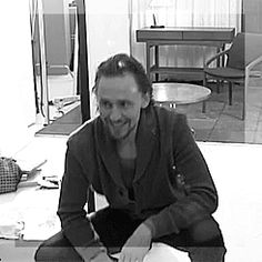 """booksandcatslover: """" hiddlememes: """" thingsididntknowwereerotic: """" GIF #3: All that nervous energy…. :D GIF #4: It takes him like 5 minutes to stand up all the way. :O :D """" King Henry in jeans and a..."""