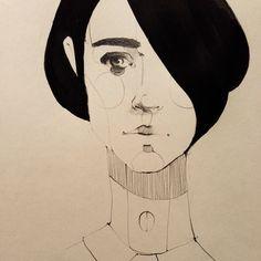 Work in progress #illustration #black #white #pencil