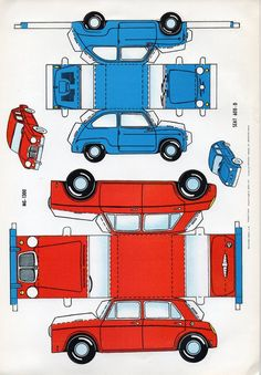 MG 1300 Morris Mini Seat 600 850 Paper Models Papiermodelle Recortables Coches | eBay